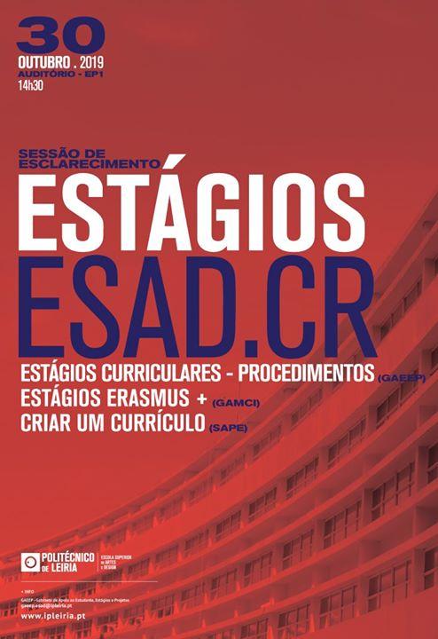 III Sessão sobre Estágios - ESAD.CR/Politécnico de Leiria.