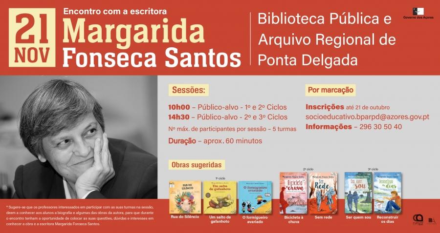 Encontro com a escritora Margarida Fonseca Santos