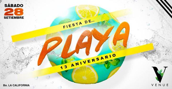 FIESTA DE PLAYA 13 ANIVERSARIO @ Venue