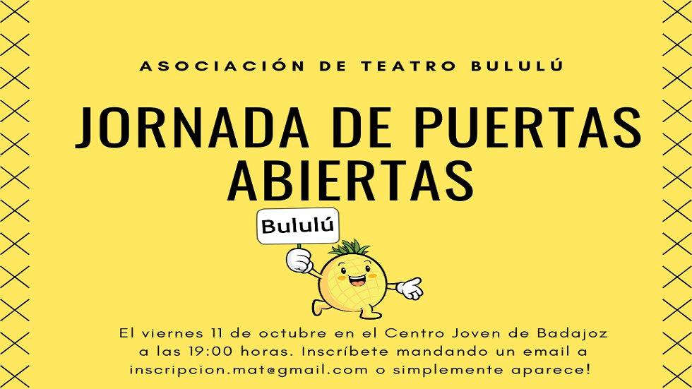 Jornada de puertas abiertas - Asociación de Teatro Bululú