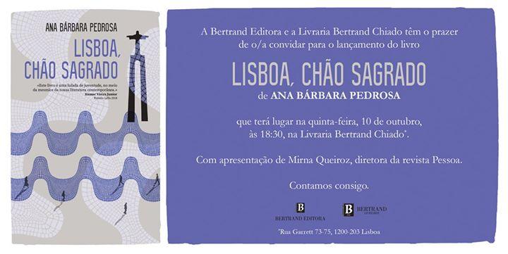 Lançamento | Lisboa, chão sagrado, de Ana Bárbara Pedrosa