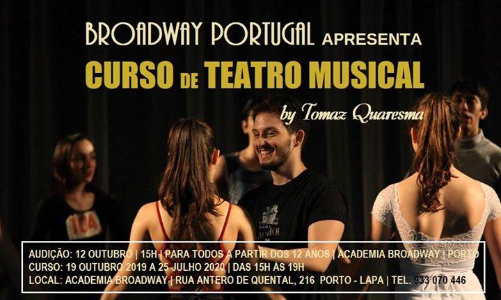 Curso Teatro Musical - Porto - by Tomaz Quaresma | Audição
