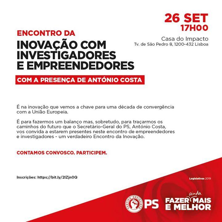 Encontro da Inovação com Investigadores e Empreendedores