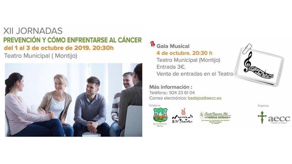 XII Jornadas informativas y Gala musical a favor de AECC - MONTIJO