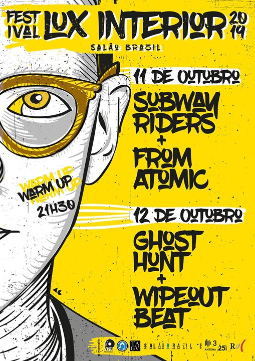 Warm-up Festival Lux Interior com Subway Riders + From Atomic
