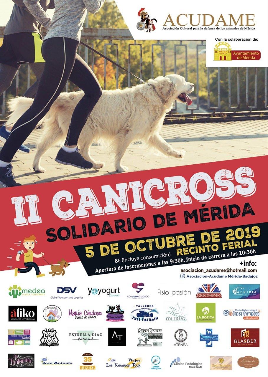 II Canicross Solidario de Mérida