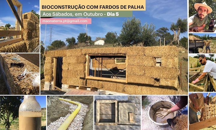 Bioconstrução com fardos de palha e reboco de terra