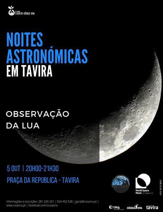 Semana Mundial do Espaço - Observação da Lua
