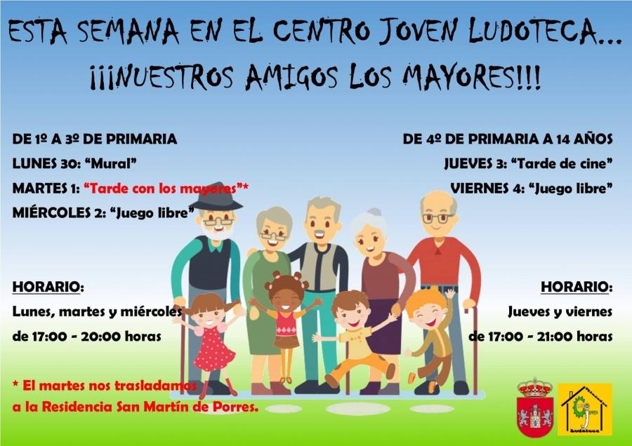 Centro Joven Ludoteca temática: Nuestros amigos los mayores