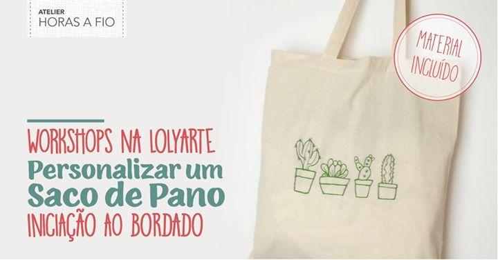 Workshops na Lolyarte - Personalizar um Saco de Pano