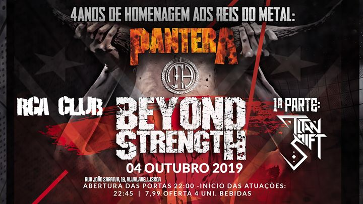 Beyond Strength tributo a PanterA + Titan Shift at RCA CLUB