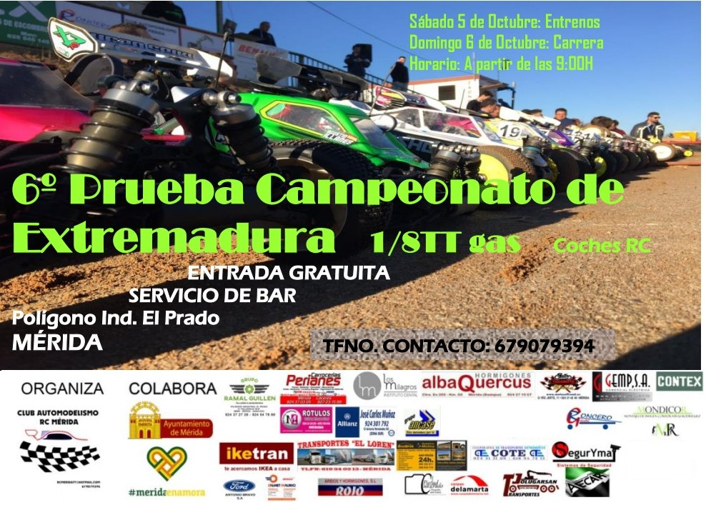 6ª Prueba Campeonato de Extremadura Coches RC