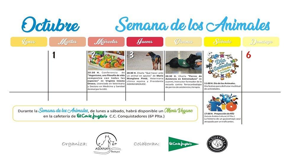 La semana y día de los animales - ADANA Badajoz