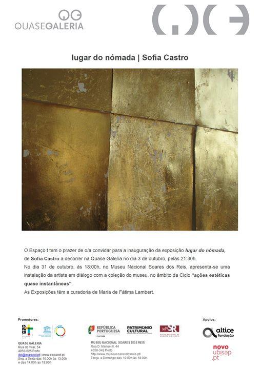 Exposição 'lugar do nómada' de Sofia Castro