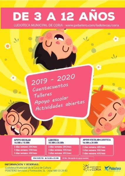 Ludoteca Municipal de Coria 2019/20