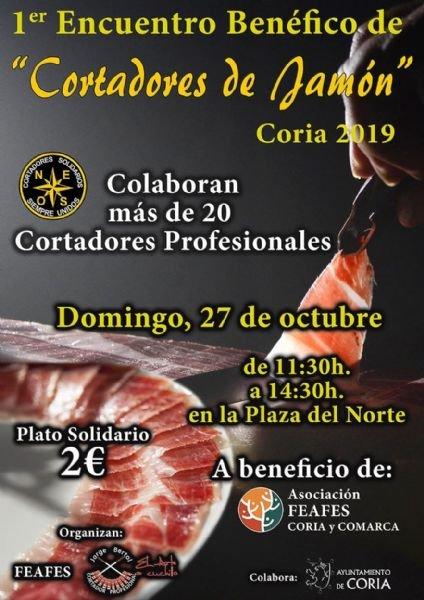 Primer Encuentro Benéfico de 'Cortadores de Jamón' Coria 2019