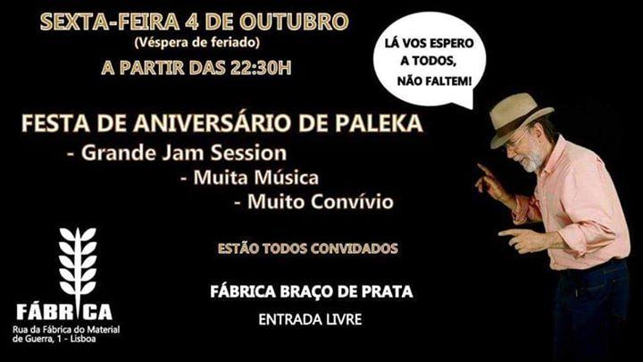 Jam de Aniversário de Paleka na Fábrica Braço de Prata