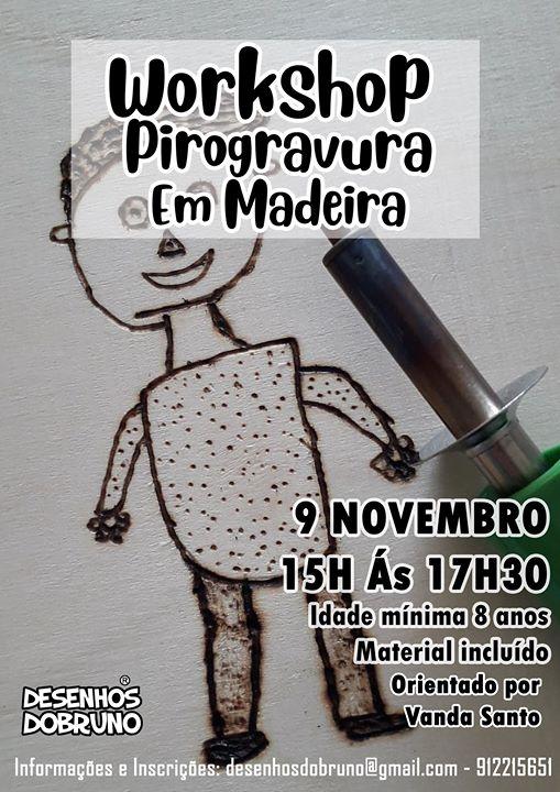 Workshop Pirogravura em Madeira