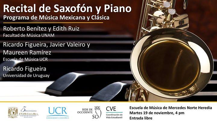 Recital de Saxofón y Piano - Música Mexicana y Clásica
