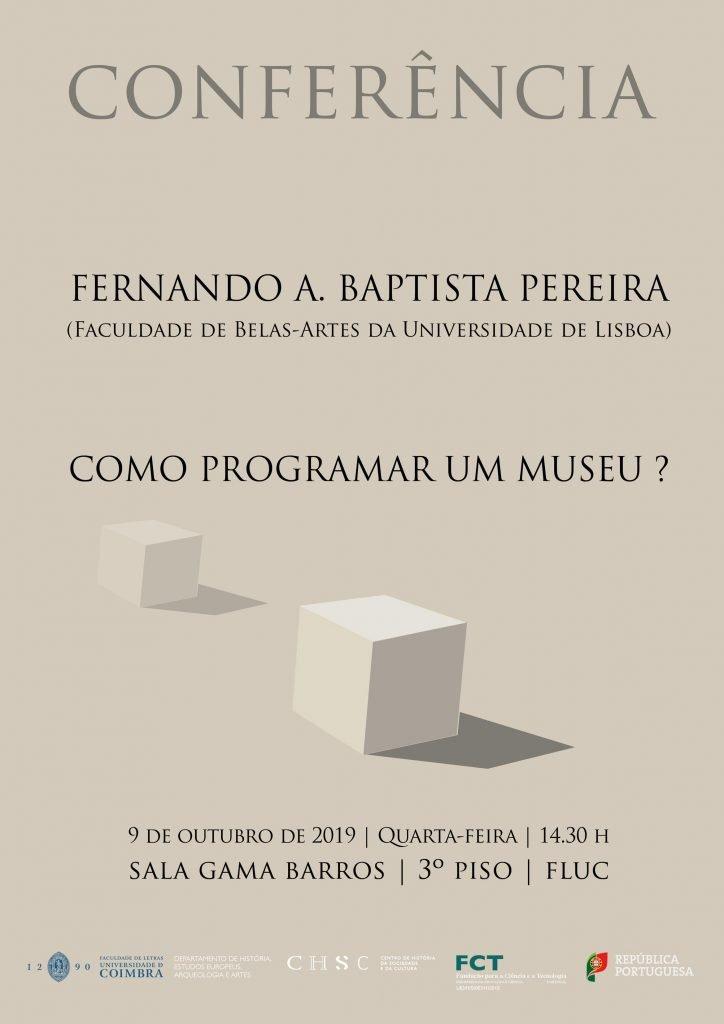 """""""Como programar um museu?"""": Conferência"""