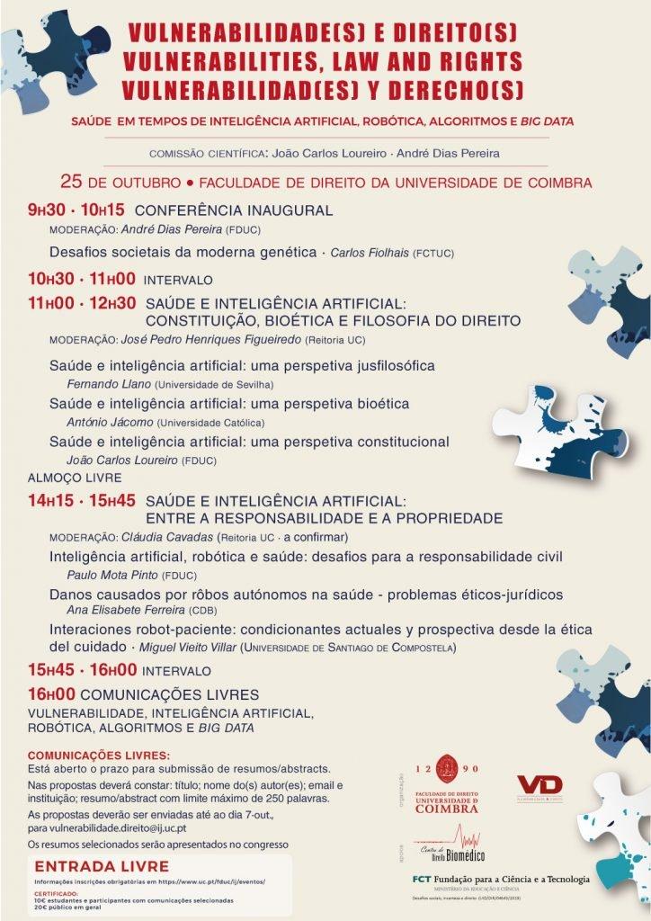 Congresso · SAÚDE  EM TEMPOS DE INTELIGÊNCIA ARTIFICIAL, ROBÓTICA, ALGORITMOS E BIG DATA