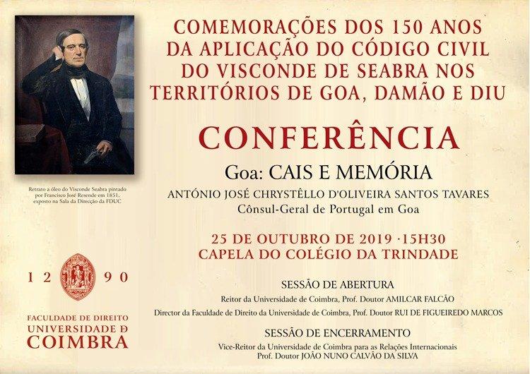 CONFERÊNCIA · Goa: CAIS E MEMÓRIA
