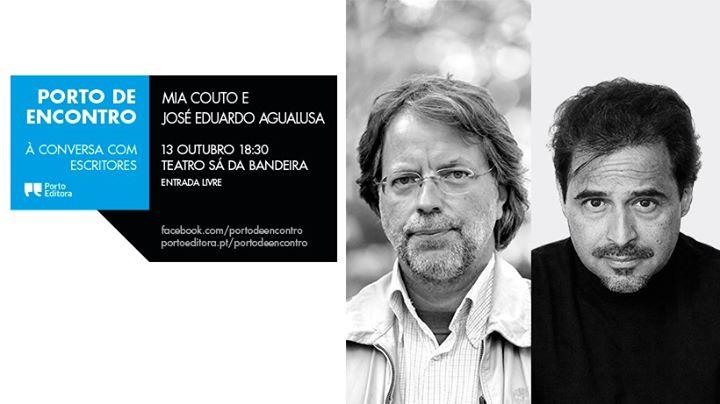 Mia Couto e José Eduardo Agualusa no Porto de Encontro
