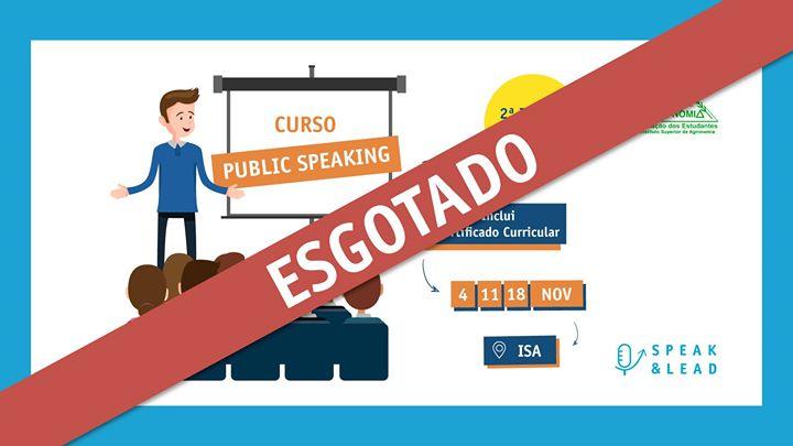 Curso Public Speaking - ISA - Esgotado