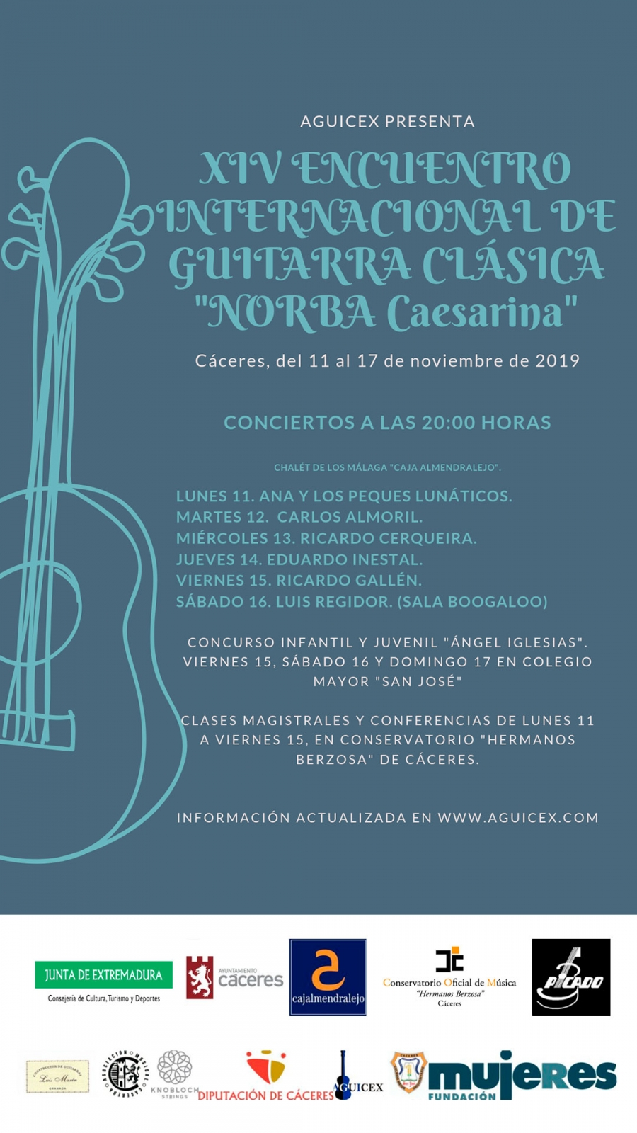 XIV Encuentro Internacional de Guitarra Clásica «Norba Caesarina» 2019 | SÁBADO 16