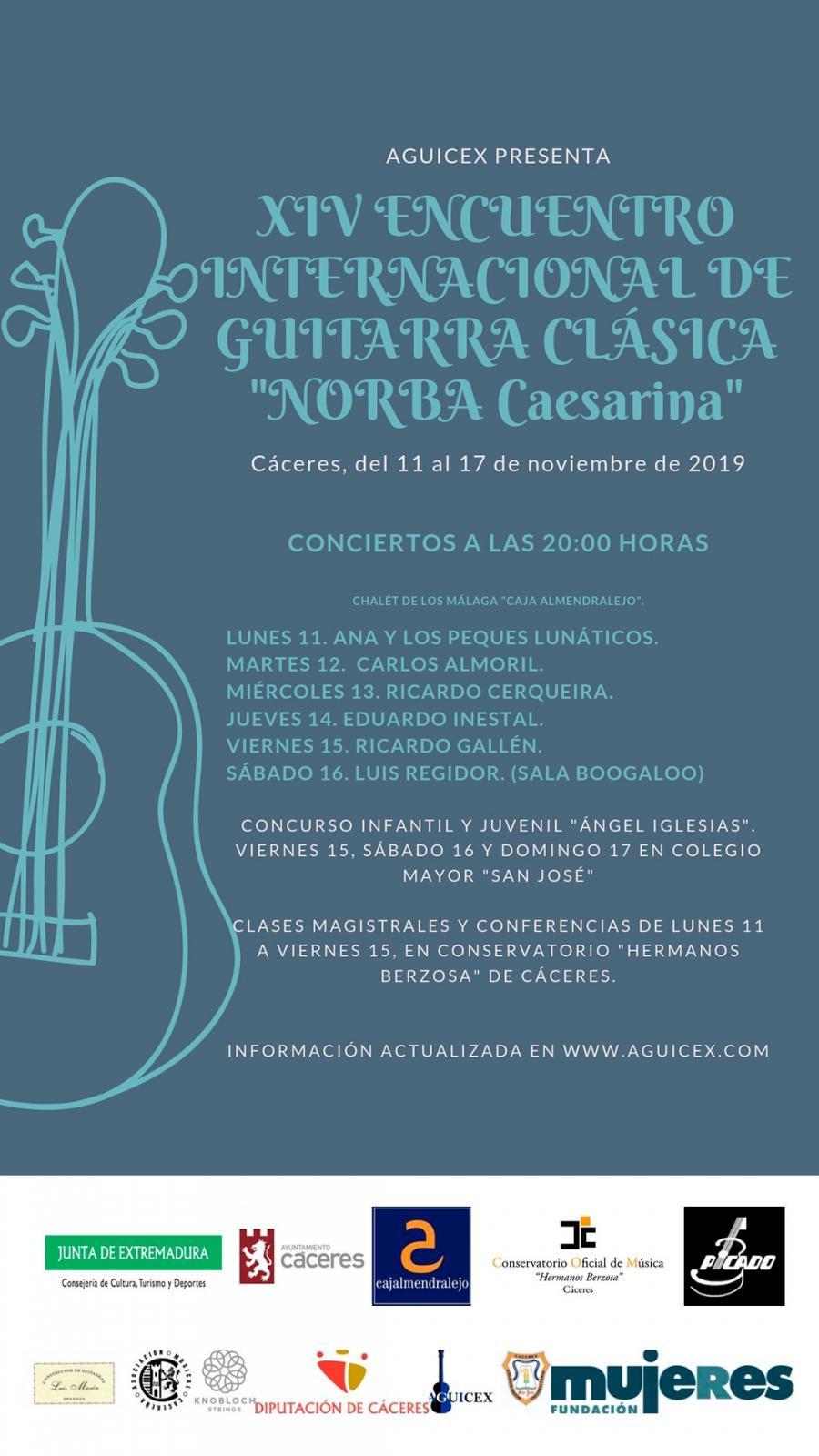 XIV Encuentro Internacional de Guitarra Clásica «Norba Caesarina» 2019 |  CONCURSO JUVENIL
