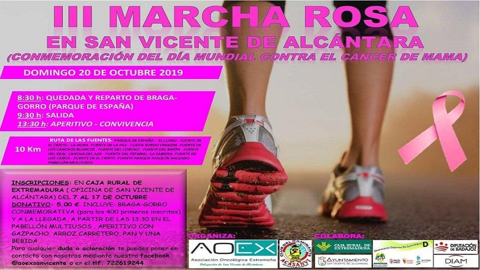 III Marcha Rosa contra el cáncer de mama - SAN VICENTE DE ALCÁNTARA