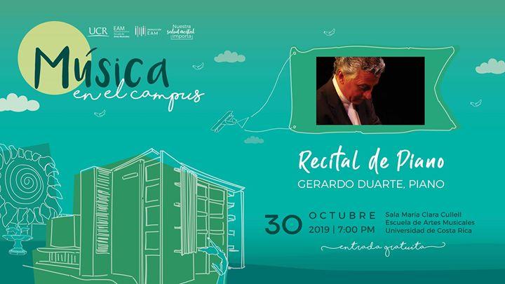 Recital de piano: Gerardo Duarte