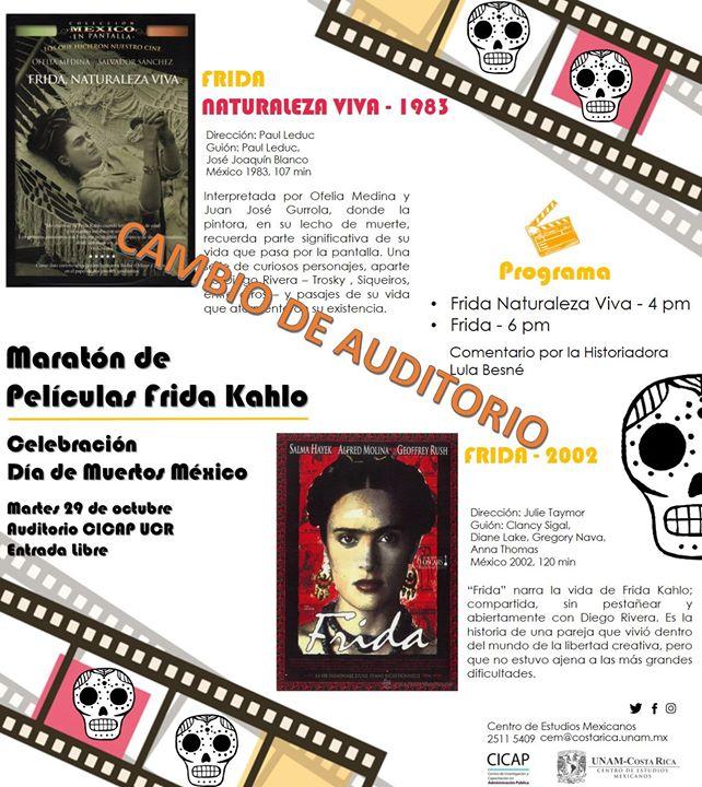 Maratón de Películas Frida Kahlo: Frida naturaleza Viva y Frida
