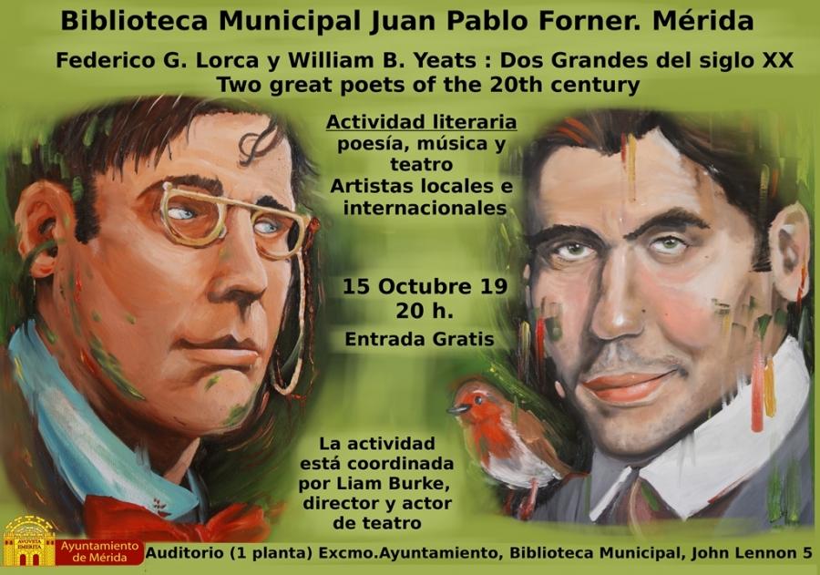"""Actividad literaria: """"Lorca y Yeats, dos grandes del siglo XX"""""""