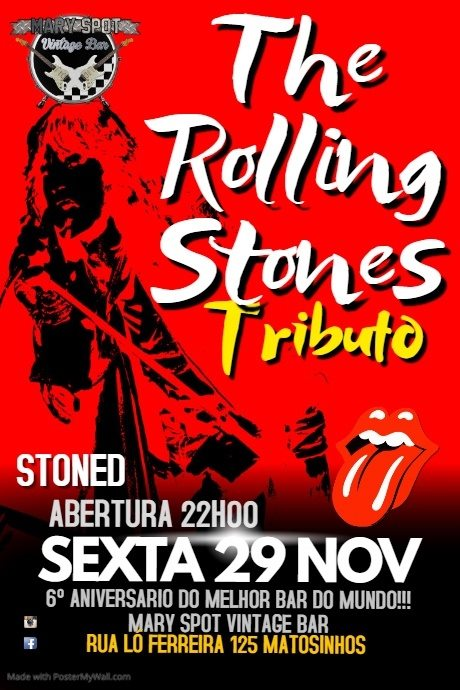 Stoned tributo The Rolling Stones 6º Aniversario Mary Spot