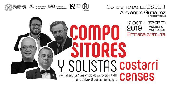 OSUCR presenta: Solistas y compositores costarricenses