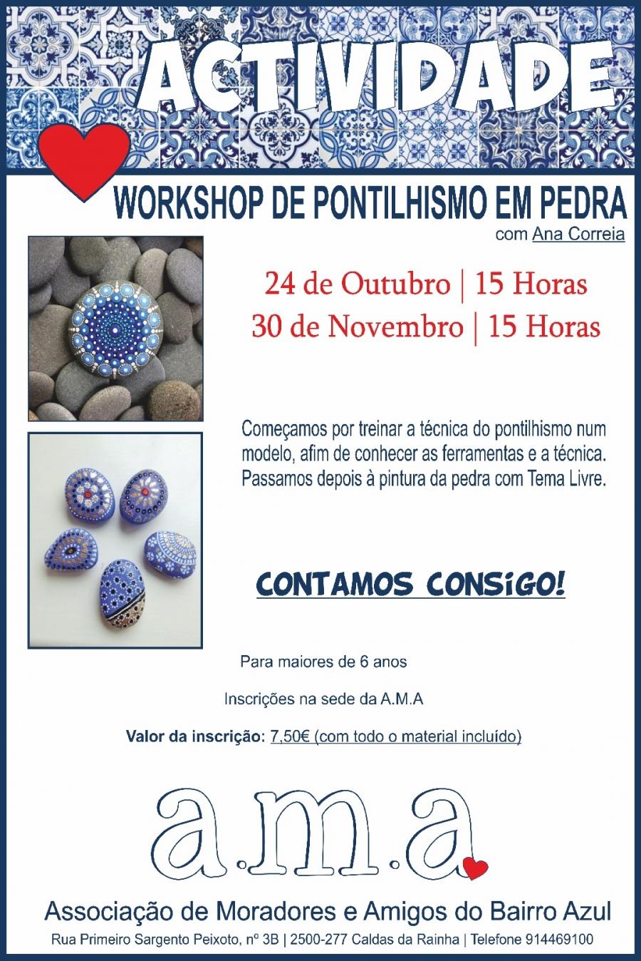 Workshop Pontilhismo em Pedra