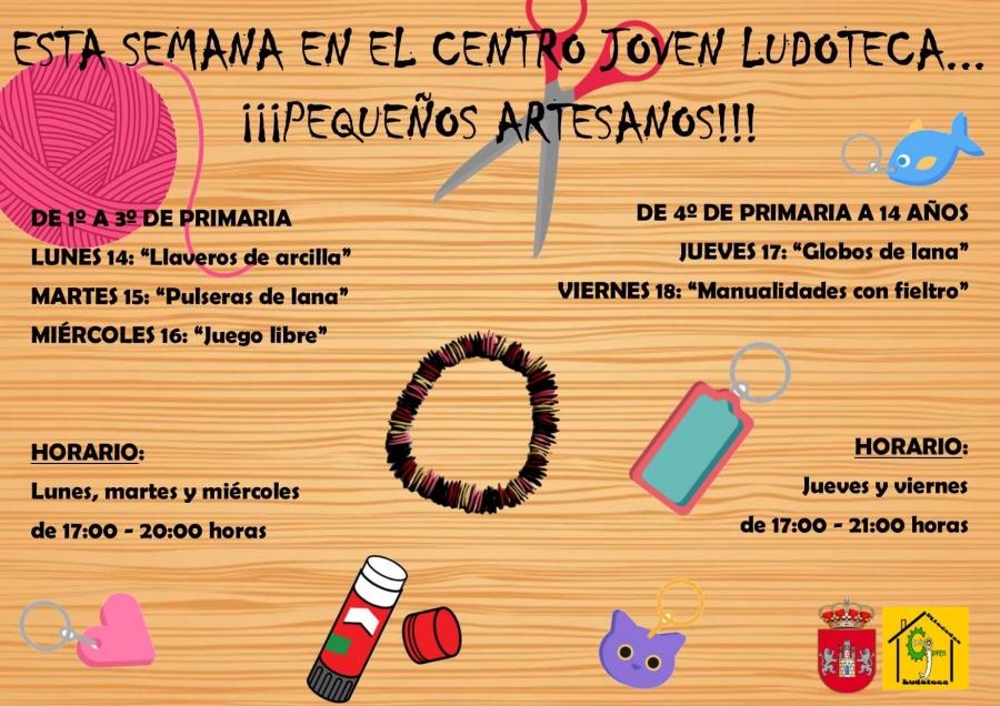 Centro Joven Ludoteca temática: Pequeños Artesanos