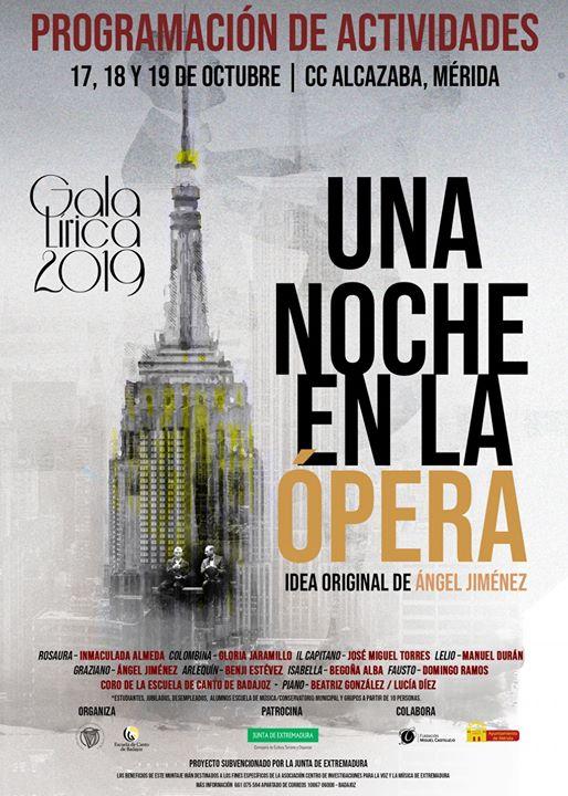 Gala Lírica 2019. Actividades y Talleres divulgativos en Mérida