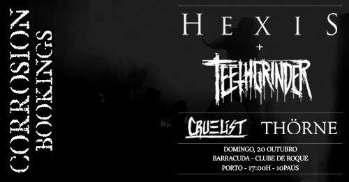 Hexis • Teethgrinder // Barracuda - Clube de Rock, Porto