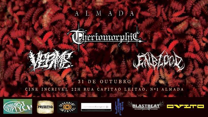 Halloween em Almada - Theriomorphic // Enblood // Verme
