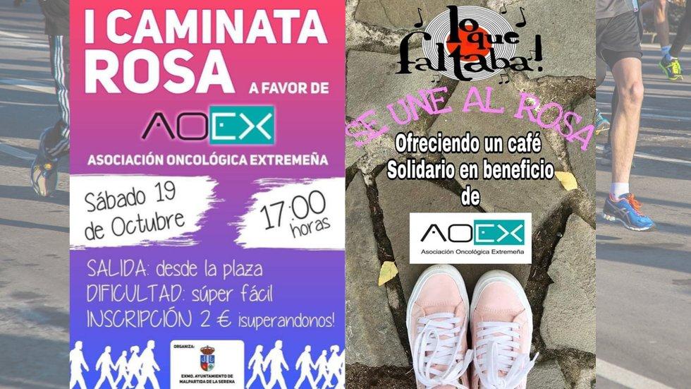 Marcha rosa y café solidario - MALPARTIDA DE LA SERENA