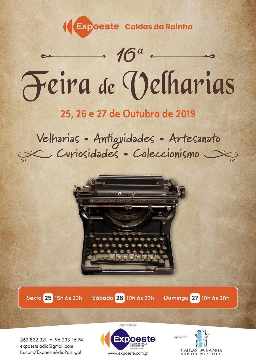 16ª FEIRA DAS VELHARIAS, ANTIGUIDADES, ARTESANATO, CURIOSIDADES e COLECCIONISMO