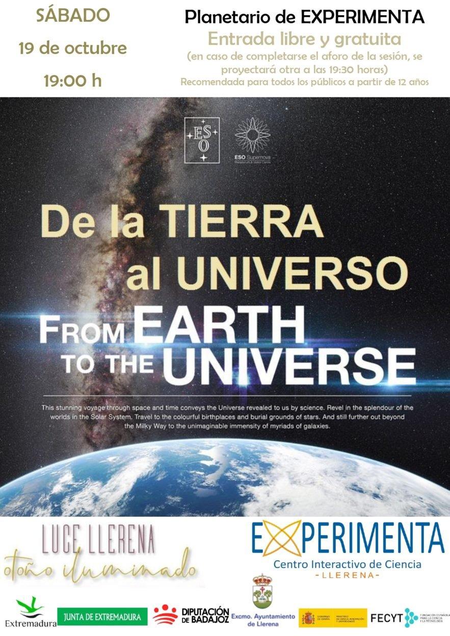 Proyección en EXPERIMENTA: DE LA TIERRA AL UNIVERSO