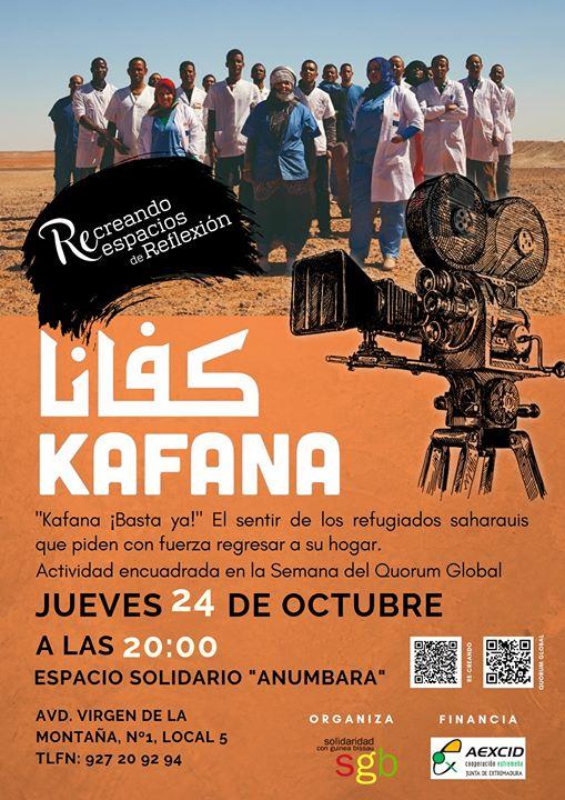 Kafana ¡Basta ya! . Ciclo de Cine y Derechos Humanos