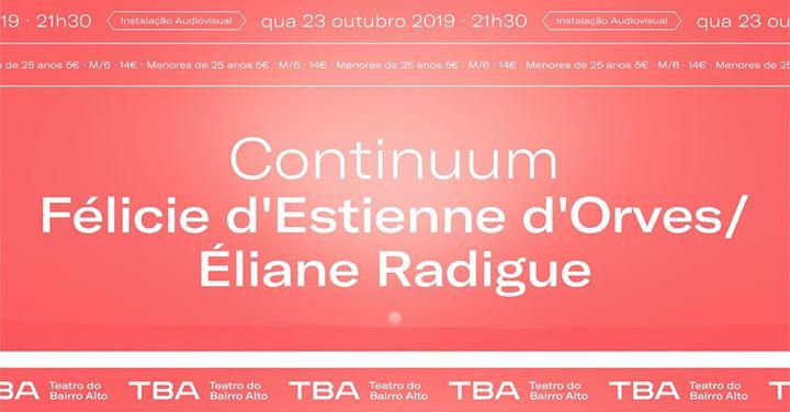 Continuum de Félicie d'Estienne d'Orves / Éliane Radigue