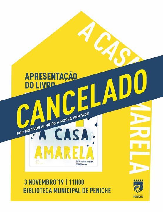Cancelado: Sofia Vieira apresenta 'A Casa Amarela…'
