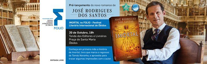 Pré-lançamento de Imortal de José Rodrigues dos Santos FOLIO