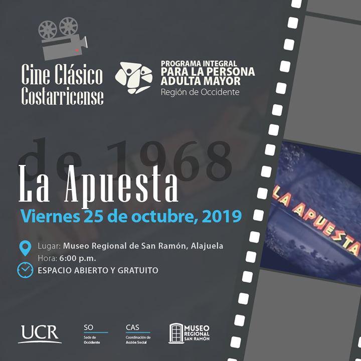 Cine clásico costarricense La Apuesta