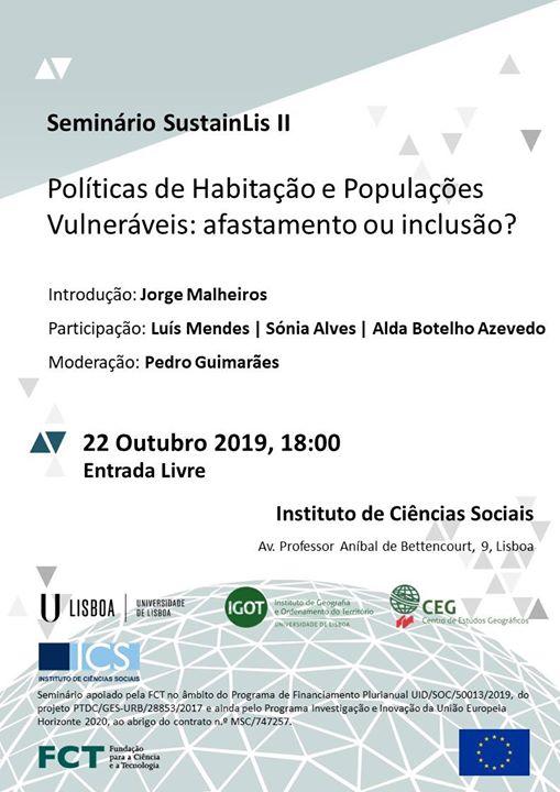 Políticas de Habitação e Populações Vulneráveis
